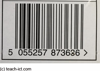 Step. Enter a bar code number into the search field. Note that not all bar codes are the same length. The bar code may be 8, 12, 13 or 14 digits long.