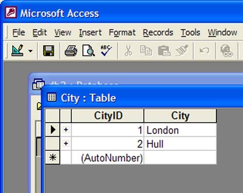 microsoft access primary keys