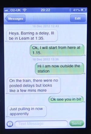 when a girl send short texts